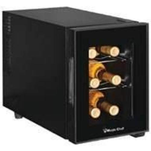Magic Chef MCWC6B 6 Bottle Countertop Wine Cooler, Black