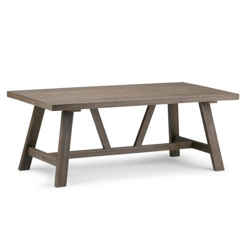 Simpli Home Dylan Driftwood Coffee Table