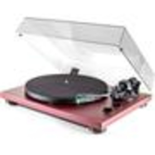 TEAC TN-400S (Bordeaux) Manual belt-drive turntable with pre-mounted cartridge, USB output, and built-in phono preamp