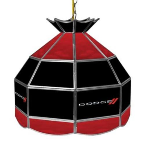 Dodge Ceiling-Mount Stained Glass Billiard Lamp