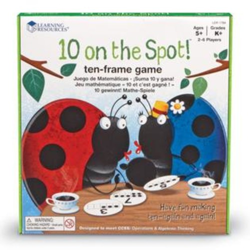 Learning Resources 10 On The Spot! Ten Frame Game
