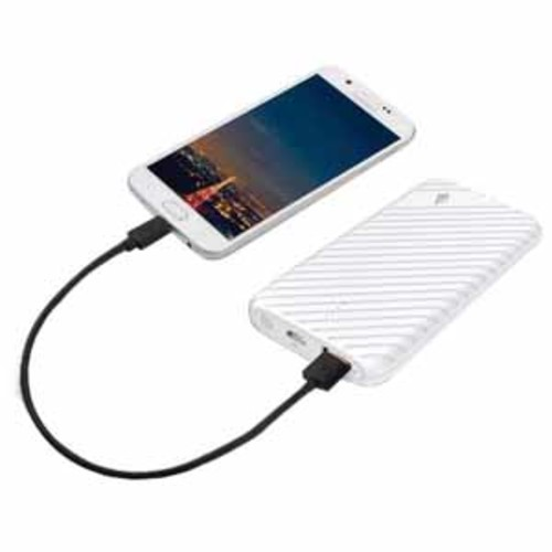 LAX 4000mAh Ultra-Compact External Battery Power Pack for iPhone, Samsung Galaxy and More - White