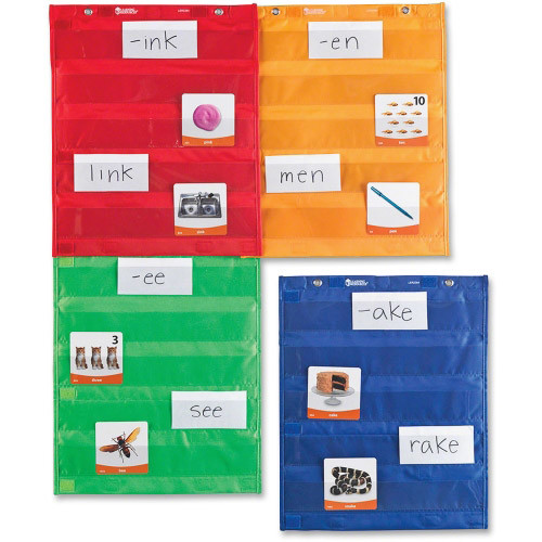 Learning Resources Magnetic Pocket Chart Squares, Set of 4, Multi (LRNLER2384)