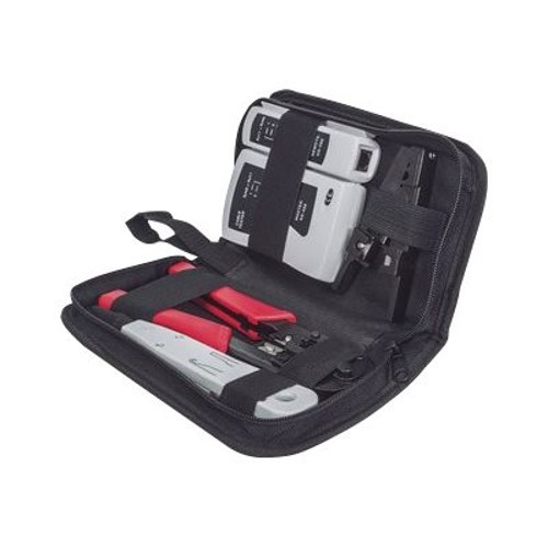 Intellinet Network Solutions 4pc Network Tool Kit Composed of LAN Tester, LSA punch down tool, Crimping Tool and Cutter/Stripper Tool (780070)