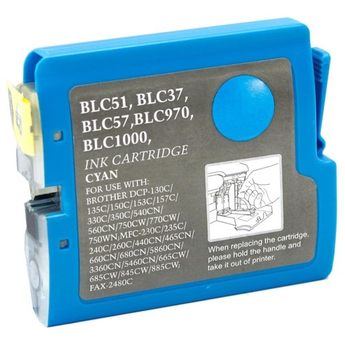 Brother Compatible LC51C Cyan Ink cartridge