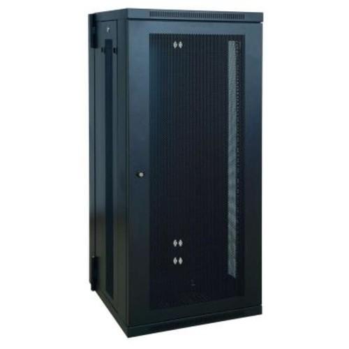 Tripp Lite SmartRack 26U Low-Profile Switch-Depth Wall-Mount Rack Enclosure Cabinet, Hinged Back