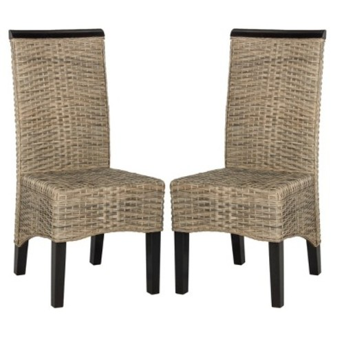 Arjun Wicker Dining Chair (Set of 2) - Safavieh