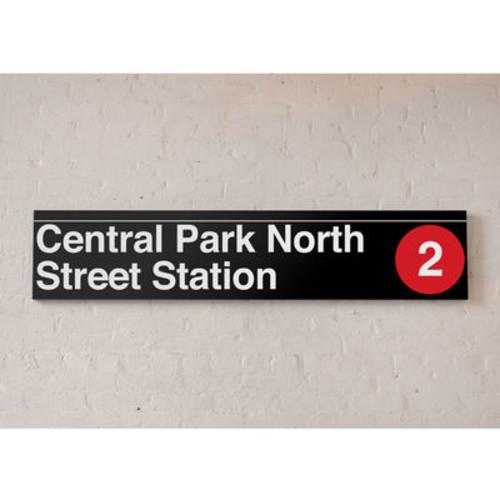 NYC MTA Vinyl Sign- Central Park North 110th Street