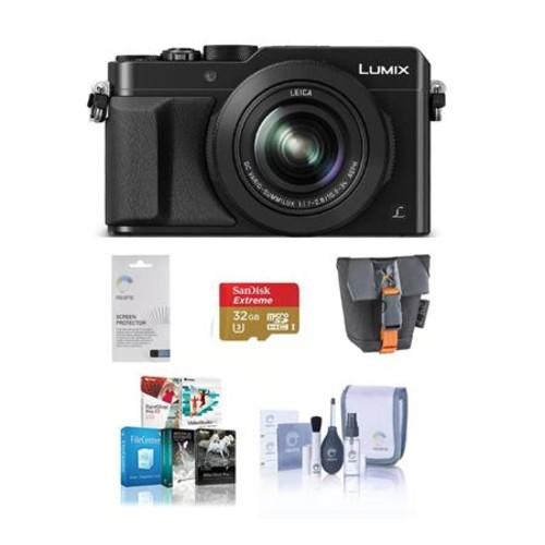 Panasonic Lumix DMC-LX100 Digital Camera with Free Accessories, Black DMC-LX100K A