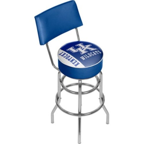 Trademark Global University of Kentucky Text 31 in. Chrome Padded Bar Stool