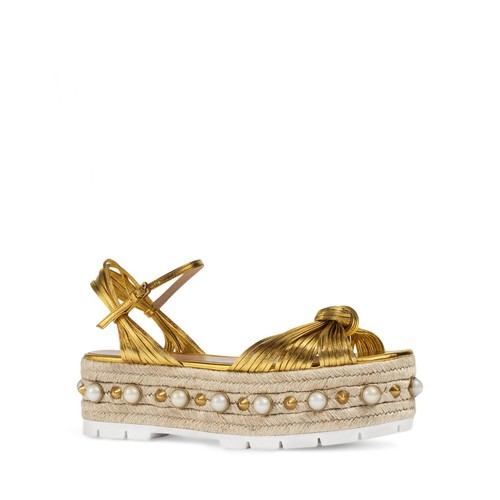 GUCCI Barbette Embellished Platform Sandals