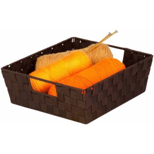 Honey Can Do Woven Basket with Handles, Multicolor (Pack of 2)