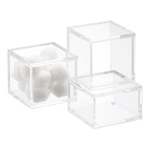 Small Acrylic Canister Clear