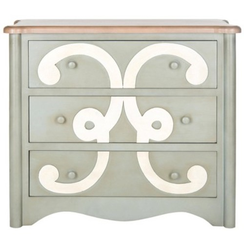 Safavieh Fawn 3-Drawer Chest, Dark Grey