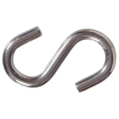 The Hillman Group 0.177 in. x 1-1/2 in. Stainless Steel S-Hook (25-Pack)