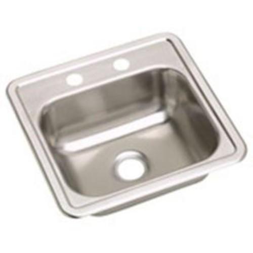Elkay Dayton Drop-In Stainless Steel 15 in. 2-Hole Single Bowl Kitchen Sink