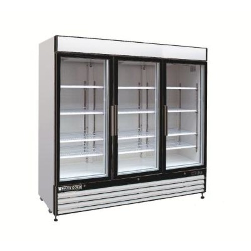 Maxx Cold X-Series 72 cu. ft. Triple Door Merchandiser Refrigerator in White