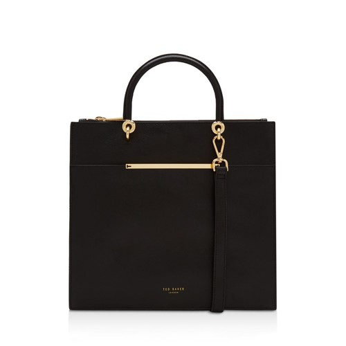TED BAKER Maureen Bar Detail Leather Tote