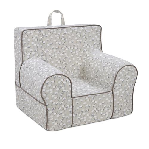 Kangaroo Classic Grab-n-Go Foam Chair with Handle - Taupe/White
