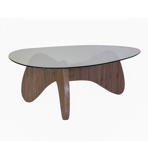 Madison Park Coffee, Console, Sofa & End Tables Madison Park Abel Natural Glass Top End Table