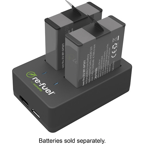 Digipower - Re-Fuel Dual Battery Charger - Black