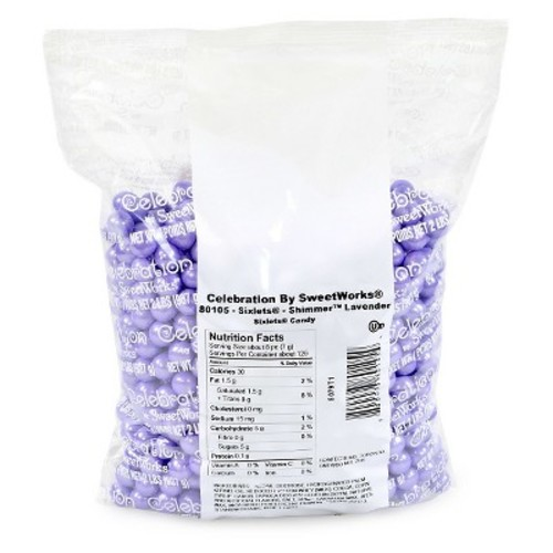 Celebration By SweetWorks Sixlets Shimmer Lavender Candy Balls, 2 lbs