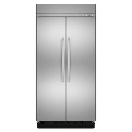 KitchenAid 48 in. W 30 cu. ft. Built-In Side by Side Refrigerator in Stainless Steel