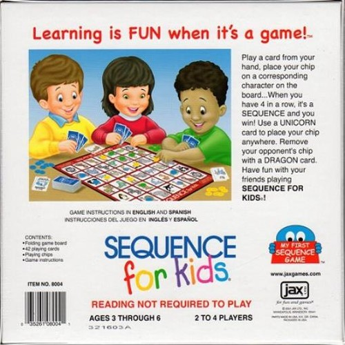Sequence for Kids Board Game