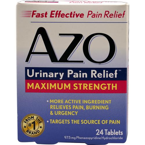 I-Health AZO Urinary Pain Relief Maximum Strength -- 24 Tablets