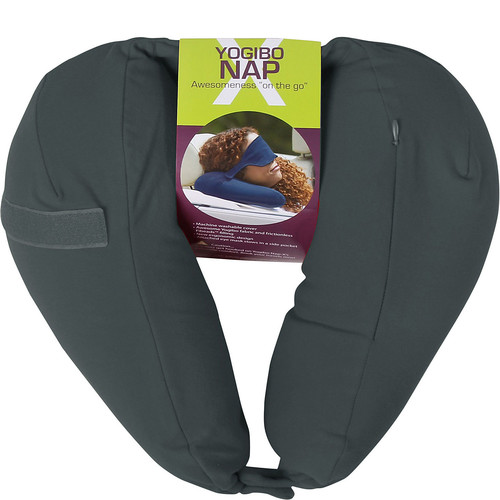 pb travel Nap X Travel Pillow with Built-In Eye Mask