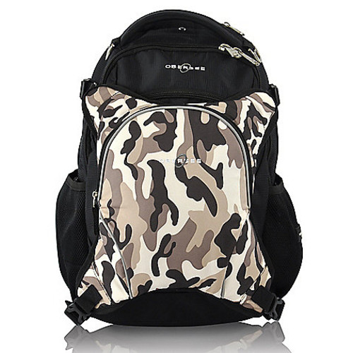Obersee Oslo Diaper Bag Backpack and Cooler in Cloud/Black in Camo