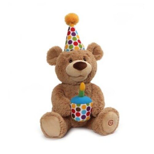 Gund Happy Birthday! Bear Plush Toy in Tan