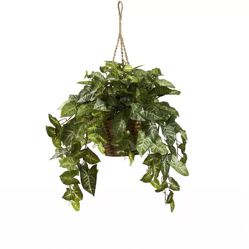 Nearly Natural Artificial Plants Nephthytis Hanging Basket