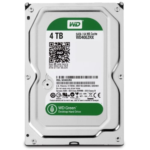 WD40EZRX Western Digital 4TB Internal Hard Drive IntelliPower 64MB Cache SATA 6.0Gb [4 TB]