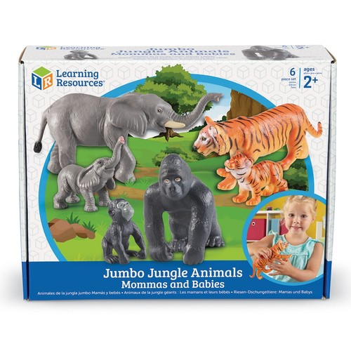 Learning Resources Mommas & Babies Jumbo Jungle Animals