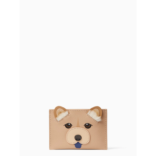 year of the dog applique cardholder