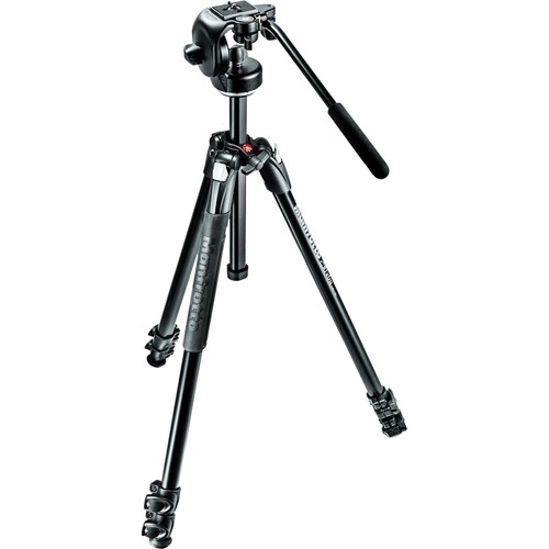 290 Xtra Aluminum Tripod with 128RC Micro Fluid Video Head