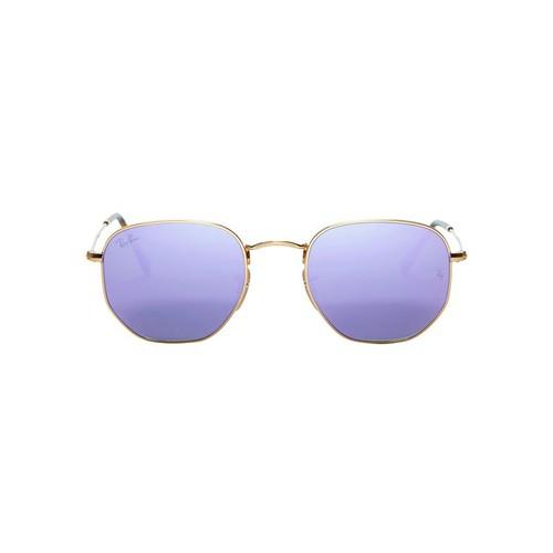 RAY-BAN Hex Metal Frame Purple Mirrored Sunglasses