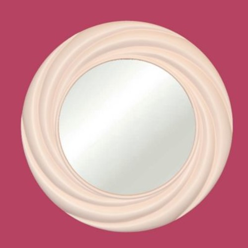 Hickory Manor House Vogue Mirror; Powder Puff Pink