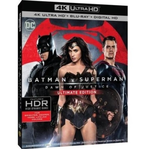 Batman V Superman: Dawn Of Justice (Ultimate Edition) (4K Ultra HD + Blu-ray + Digital HD)