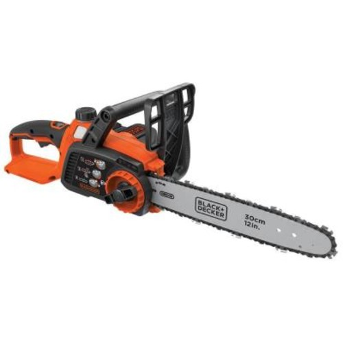 BLACK+DECKER 12 in. 40-Volt MAX Lithium-Ion Cordless Chainsaw with 2.0Ah Battery and Charger Included