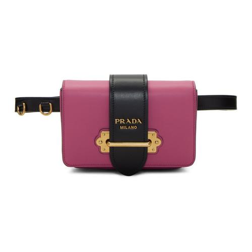 PRADA Pink Cahier Chain Belt Bag