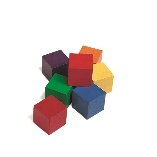 Learning Resources Wooden Color Cubes - 102 Pieces