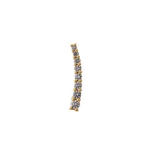 DASHA small diamond cuff earring