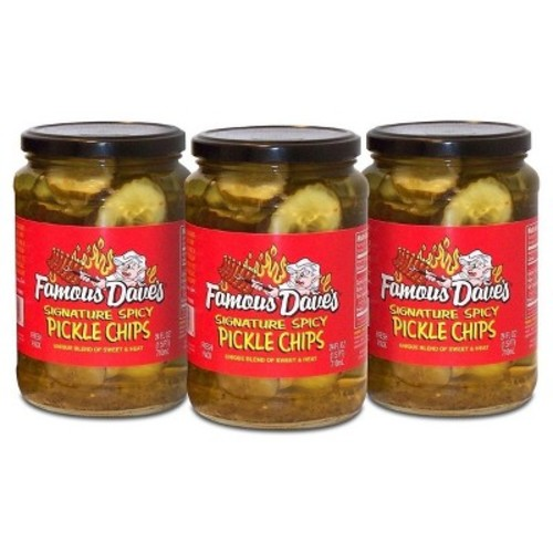 Famous Dave's Signature Spicy Pickle Chips - 3pk