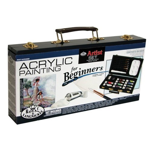 Royal Brush RSET-ACR3000 Royal and Langnickel Acrylic Painting Artist Set for Beginners [Acrylic]