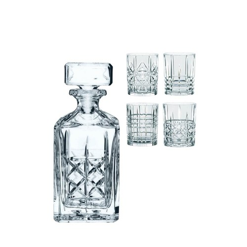 Nachtmann Highland Whiskey Set Decanter with 4 Tumblers