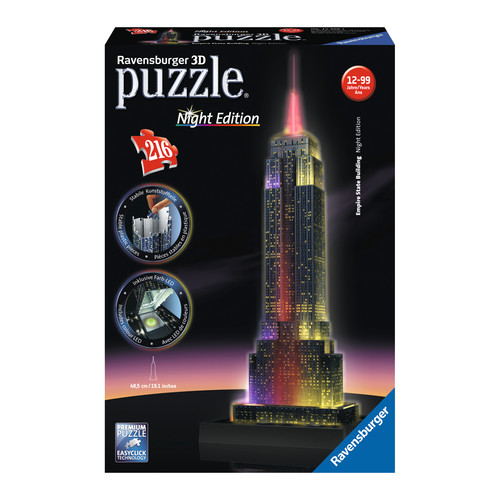 Ravensburger 3D Puzzle - Empire State Building - Night Edition: 216 Pcs