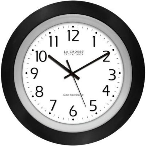 La Crosse Technology 10 in. Round Analog Black Frame Wall Clock