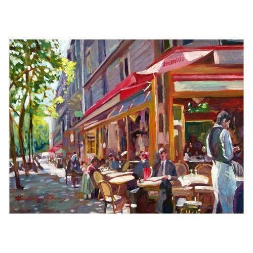 Paris Cafe by David Lloyd Glover, 18x24-Inch Canvas Wall Art [18 by 24-Inch]